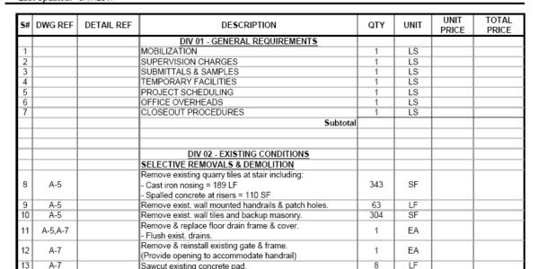 QTO Estimating - Construction Takeoff Services & Material